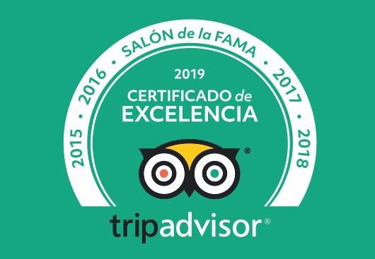 certificado-excelencia-salon-fama-tripadvisor-casa-isolina-2019